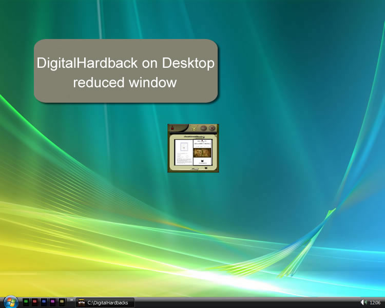 Digital Hardback on Desktop - Reduced